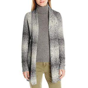 Long Sleeve Rib Ombre Open Cardigan Sweater